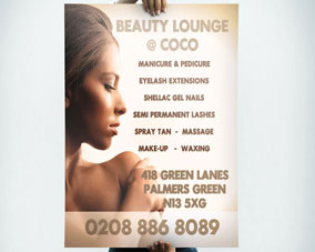 Beauty Lounge Poster - Back side